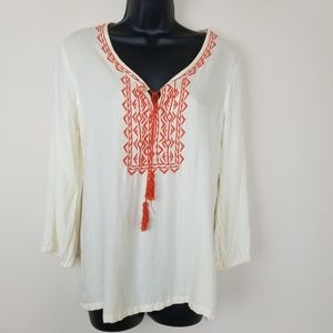 Soft Joie Long Sleeve Peasant Blouse Small